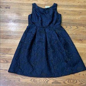 Talbots Blue/Black Broquet Dress